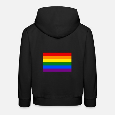 Rainbow Flag Rainbow flag banner CSD LGBT colorful tolerance - Kids' Premium Hoodie