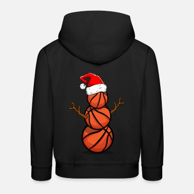 Christmas Basketball player gift Christmas T-shirt - Kids' Premium Hoodie
