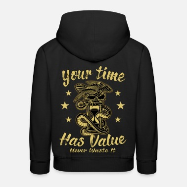 Hour Glass Hourglass time hour clock fantasy gothic - Kids' Premium Hoodie