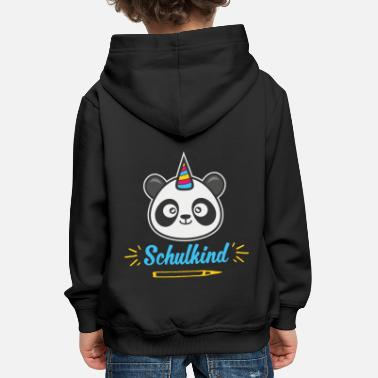 Animal Cadeau d'écolier Panda inscription Pandicorn - Sweat à capuche premium Enfant