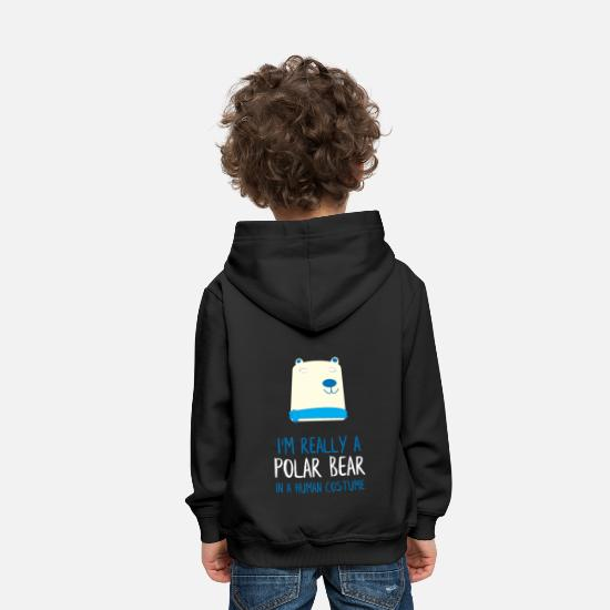 Man Hoodies & Sweatshirts - I'm Really a Polar Bear - Kids' Premium Hoodie black