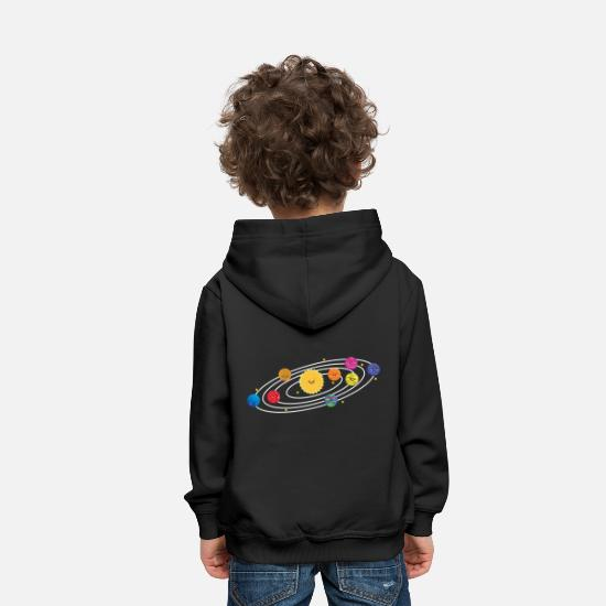 Saturn Hoodies & Sweatshirts - Solar System T-Shirt for Astronaut Gift Idea - Kids' Premium Hoodie black