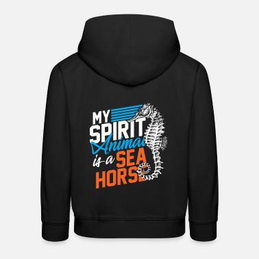 Tier My spirit animal is a sea horse - Kinder Premium Hoodie