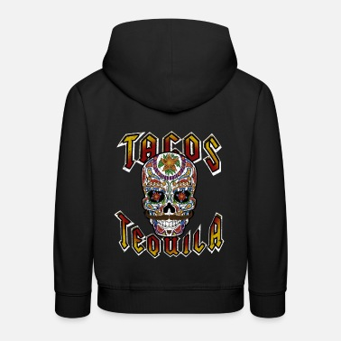Tacos and TEQUILA Mexican Skull Skull - Kids' Premium Hoodie
