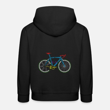 Glass Underwear Bicycle anatomy for bike and cycling lovers - Kids' Premium Hoodie