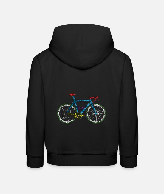 Cycling Hoodies & Sweatshirts - Bicycle anatomy for bike and cycling lovers - Kids' Premium Hoodie black