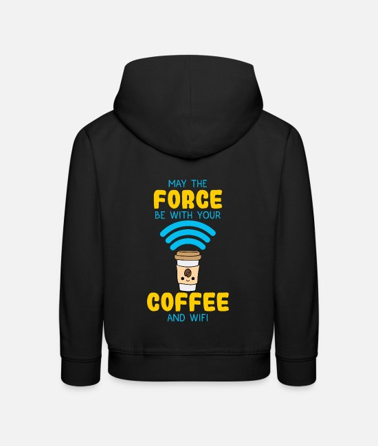 Espresso Hoodies & Sweatshirts - Coffee bean awake energetic and alive in work - Kids' Premium Hoodie black