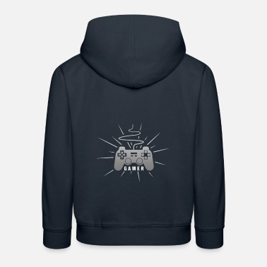 Console Gamer Love | Gamepad / Controller | Console Gamin - Kinder Premium Hoodie