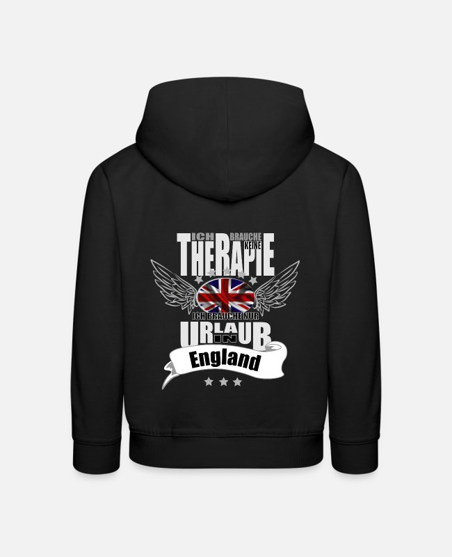 Therapy Hoodies & Sweatshirts - no therapy England - Kids' Premium Hoodie black