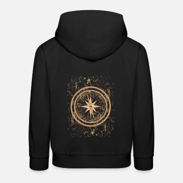 Cardinal Point Gift Retro Compass Cardinal points - Kids' Premium Hoodie