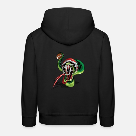 College Hoodies & Sweatshirts - Quarterback Sneak Funny Snake American Football - Kids' Premium Hoodie black