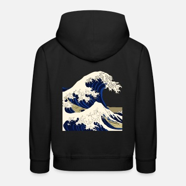 Art Wave Japan Japonais Kanagawa - Sweat à capuche premium Enfant