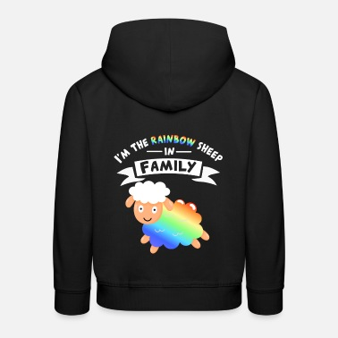 Sex Pride equality gay rainbow equal men - Kids' Premium Hoodie