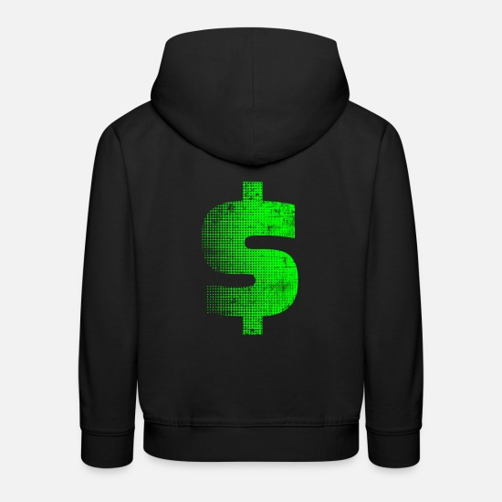 Richesse Sweat-shirts - dollar - Sweat à capuche premium Enfant noir