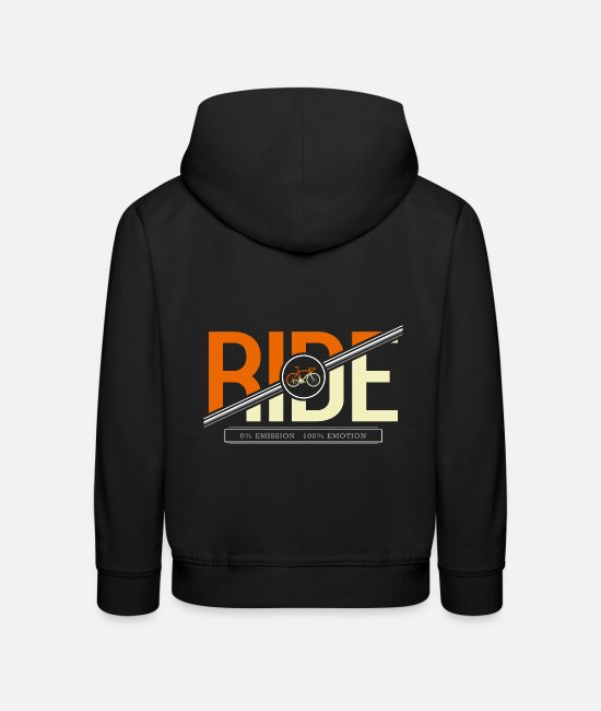 Mountain Hoodies & Sweatshirts - Ride On Emission Emotion RoB - Premium Shirt - Kids' Premium Hoodie black