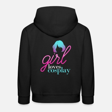 Cosplay Girl Loves Cosplay Larping product - Kids' Premium Hoodie