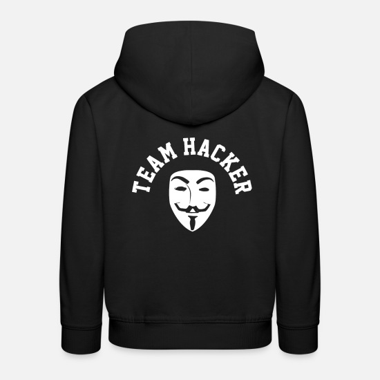 Hacker Hoodies & Sweatshirts - Hacker Anonymous Mask computer funny - Kids' Premium Hoodie black