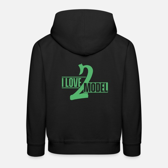 Mode Pullover & Hoodies - Mode Model Topmodel Modeln Model Laufsteg - Kinder Premium Hoodie Schwarz