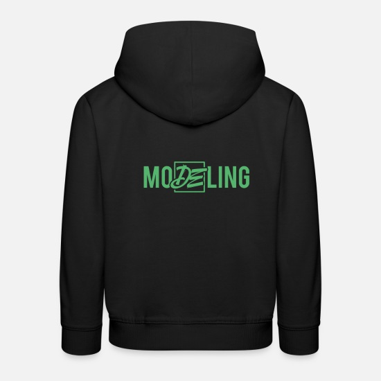 Mode Pullover & Hoodies - Mode Model Laufsteg Modeln Topmodel Model - Kinder Premium Hoodie Schwarz