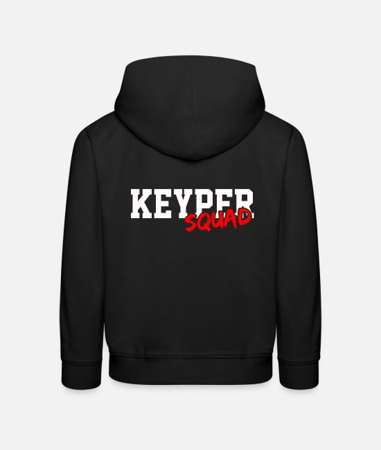Quote Hoodies & Sweatshirts - Keyper troop - Kids' Premium Hoodie black