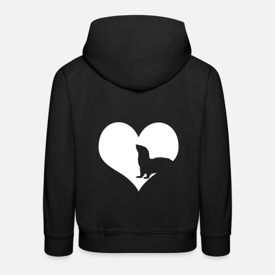 Gift Idea Hoodies & Sweatshirts - Ferret favorite animal - Kids' Premium Hoodie black