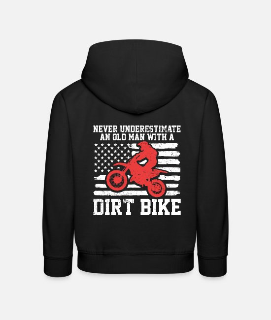 Biker Hoodies & Sweatshirts - Dirt bike - Kids' Premium Hoodie black