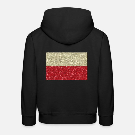 Polen flag flag polish Glitter Polska hem Premium hoodie