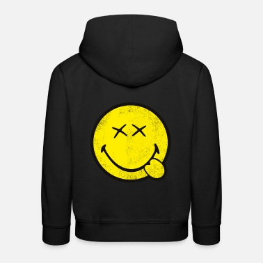 Back To School SmileyWorld Classic Oldschool Smiley - Kids' Premium Hoodie