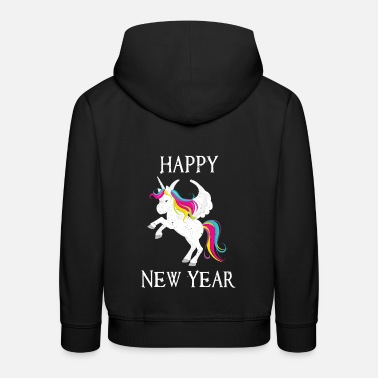 Production Year Happy New Year product Funny Unicorn print - Kids' Premium Hoodie