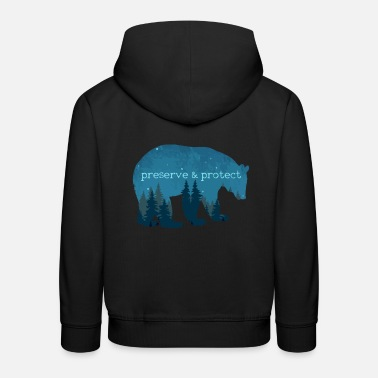 Nature Conservation Nature Conservation - Bear Nature Gift - Kids' Premium Hoodie