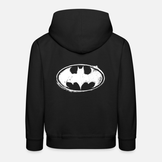 Batman Logo White Chalk Teenager Langarmshirt Kinder ...