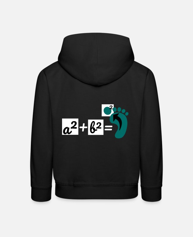 Maths Teacher Hoodies & Sweatshirts - Math set of Pythagoras teacher mathematics - Kids' Premium Hoodie black
