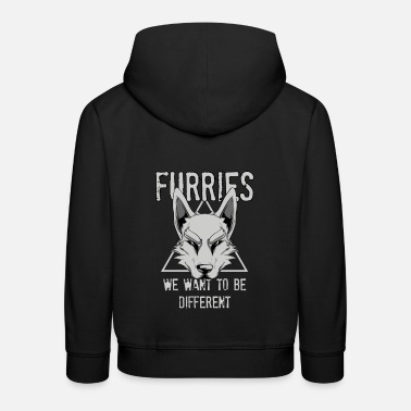 Furries We Want To Be Different Furry Cosplay - Kids' Premium Hoodie