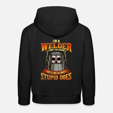 Meme Funny Welder Construction Worker Meme Saying - Kids' Premium Hoodie