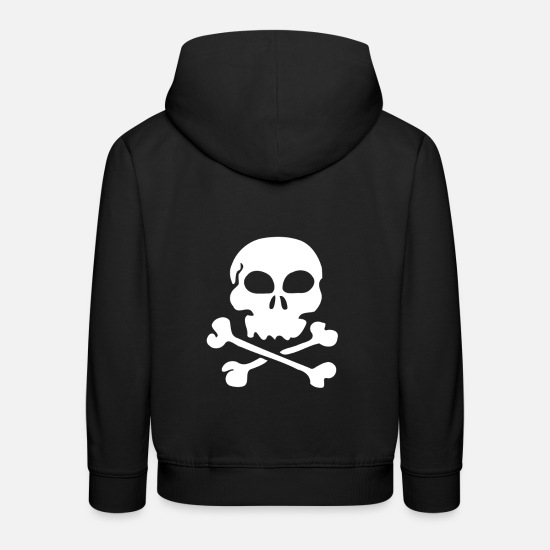 Skull Hoodies & Sweatshirts - Skull and Bones - Kids' Premium Hoodie black