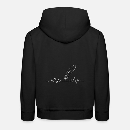 Feather Hoodies & Sweatshirts - feather - Kids' Premium Hoodie black