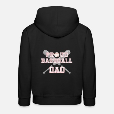 Sport Proud baseball dad sports baseball bat - Kids' Premium Hoodie
