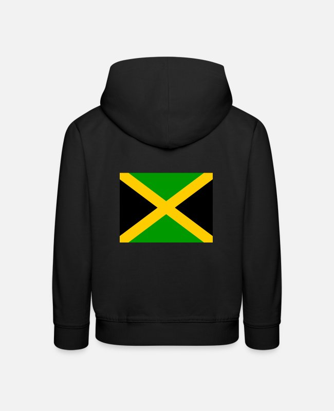 Clubbers Hoodies & Sweatshirts - Flag of Jamaica (jm) - Kids' Premium Hoodie black
