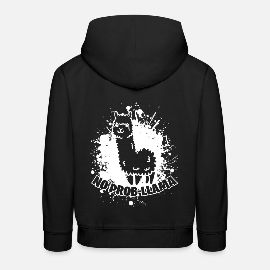 Amour Des Animaux Sweat-shirts - Amour animal Lama Funny énonciations animal animal - Sweat à capuche premium Enfant noir
