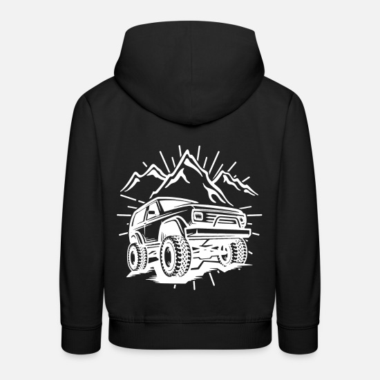 Gift Idea Hoodies & Sweatshirts - Car SUV SUV Jeep Terrain Mountain Tuning PS - Kids' Premium Hoodie black