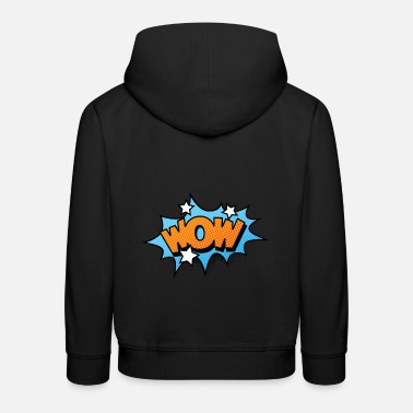 Comics Comic Comicstyle Comic Strip WOW - Kids' Premium Hoodie