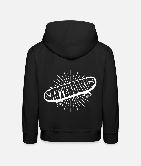 Art Hoodies & Sweatshirts - Skateboard Skate Sport Kickflip Moves Hobby art - Kids' Premium Hoodie black