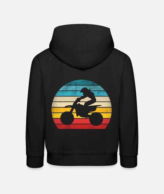 Motorcycle Hoodies & Sweatshirts - Motocross dirt bike - Kids' Premium Hoodie black