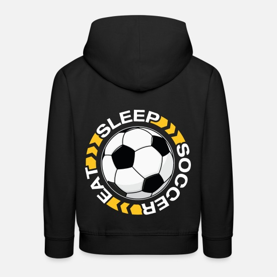 Birthday Hoodies & Sweatshirts - Eat Sleep Soccer Repeat T-Shirt - Kids' Premium Hoodie black
