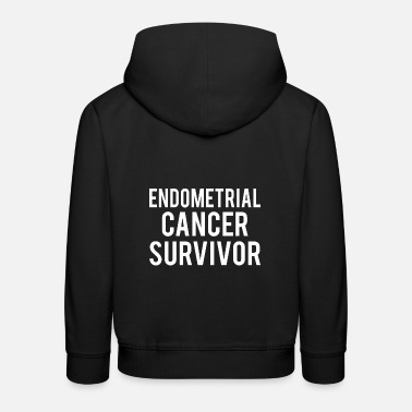Endometrial Cancer Poison Endometrial Cancer: Endometrial Cancer Survivor - Kids' Premium Hoodie