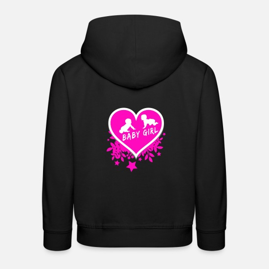 Baby On Board Hoodies & Sweatshirts - Baby Girl / Gift Babies Heart - Kids' Premium Hoodie black