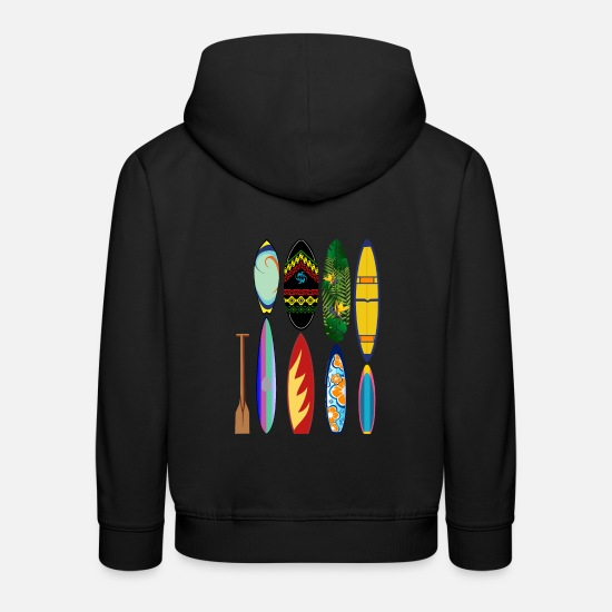 Birthday Hoodies & Sweatshirts - Surfing sea paddle board - Kids' Premium Hoodie black