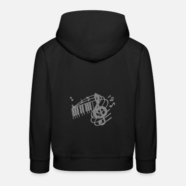 Octave Octave violin notes melody clef musician - Kids' Premium Hoodie