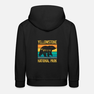 Trip Yellowstone National Park vintage bear - Kids' Premium Hoodie