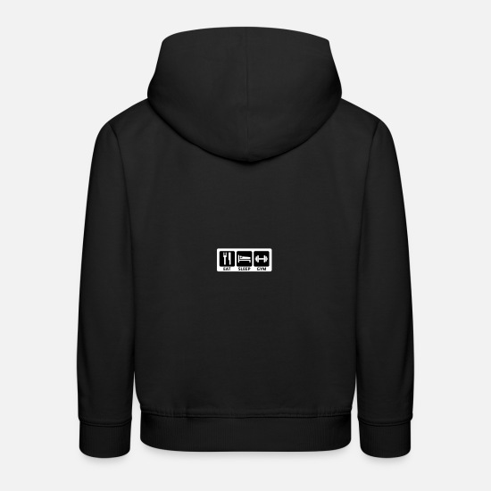 Mann Pullover & Hoodies - eat sleep gym - Kinder Premium Hoodie Schwarz